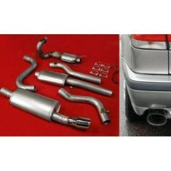 "JT Saab 900 / 93 94-02 3"" turboback 2 silencer 100CPSI cat"