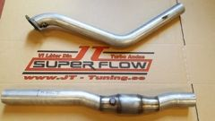 "JT Volvo 940 Turbo 3"" downpipe 16T/19T 200CPSI cat"
