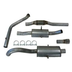 "JT Volvo 940 3"" turboback 2 silencer 200CPSI cat"