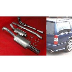 "JT Volvo 940 non-turbo manifold-back 3"" 2 silencer exhaust decat"