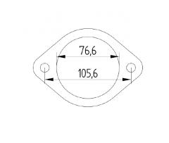 """Laippa RST 3"""" 2-pultt. reikäjako 106mm"""