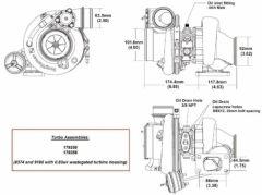 BorgWarner EFR 9180B AR 0.83 T3 turbo 1000 hp