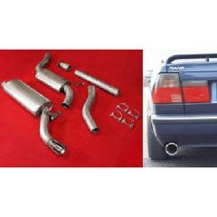 "JT Saab 9000 92-98 CS Turbo 3"" cat-back 2 silencer"
