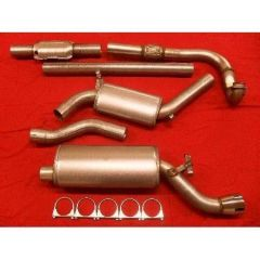 "JT Saab 9000 92-98 CS 3"" turboback 2 silencer 200CPSI cat"