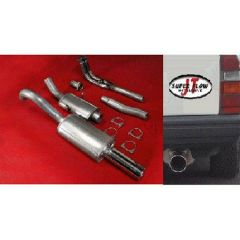"""JT Volvo 740 non-turbo manifold-back 3"""" 2 silencer exhaust for OEM cat"""
