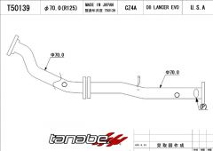 Tanabe Downpipe Lancer Evo X