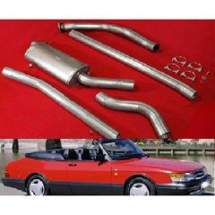 "JT Saab 900 turbo 85-93 3"" turboback 1 silencer decat"