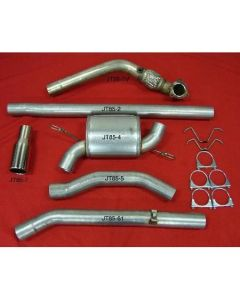 "JT Volvo S/V70 97-00 2wd 3"" turboback 1 silencer big flange decat"