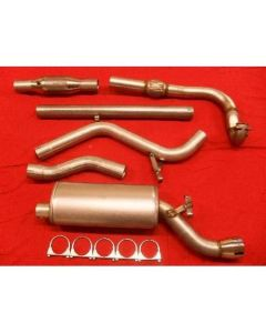 "JT Saab 9000 92-98 CS 3"" turboback 1 silencer 100CPSI cat"
