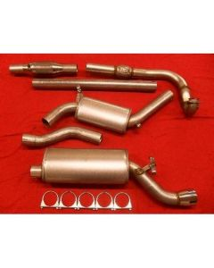 "JT Saab 9000 92-98 CS 3"" turboback 2 silencer 100CPSI cat"
