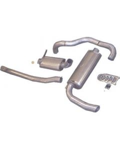 """JT Volvo 240 turbo 3"""" catback for OEM front"