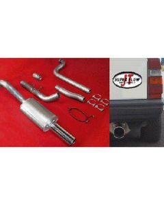 """JT Volvo 740 3"""" turboback 1 silencer for OE"