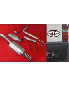 """JT Volvo 740 3"""" turboback 2 silencer for OE"
