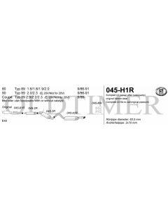 Audi 80/90/Coupe typ89 pakoputkisto RST