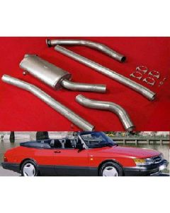 "JT Saab 900 turbo 85-93 3"" turboback 1 silencer decat"