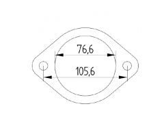 "Laippa RST 3"" 2-pulttinen reikäjako 106mm"