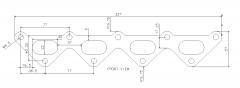 Fiat Punto MK1 1.2 16V Exhaust manifold flange