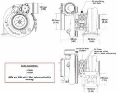 BorgWarner EFR 9180D AR 1.05 T4 turbo 1000 hp