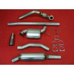 """JT Volvo S/V70 97-00 2wd 3"""" turboback 2 silencer welded flange decat"""