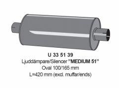 """Vaimennin 2"""" Medium 51 L=420mm"""
