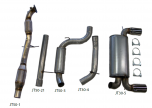 """JT Volvo C30 T5 FWD 3"""" Turboback Exhaust"""