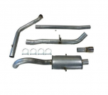 "JT Volvo 740 / 940 1 Silencer Turboback 3"" Decat"